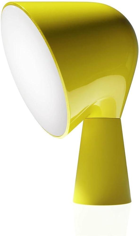 Foscarini binic gialla,lampada da tavolo a led, in policarbonato FOS200001 55