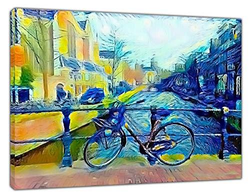 Lienzo enmarcado con pintura al óleo de Vincent Van Gogh Red Light District, 16'' x 12'' inch(40x 30 cm) -18mm depth