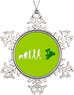Diuangfoong Xmas Trees Decorated Motorcycle Special Christmas Snowflake Ornaments Triumph