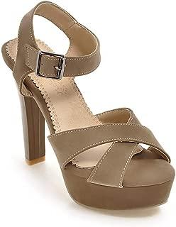BalaMasa Womens ASL06906 Pu Platform Heels
