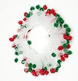 Midlee Christmas Pom Pom Decorative Dog Collar (X-Large)