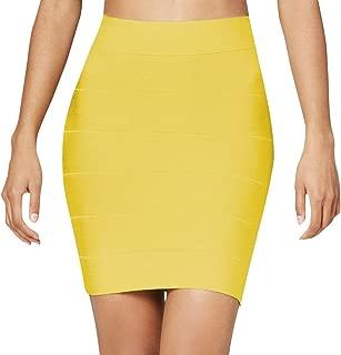 Nayssi Women's Sexy High Waist Pencil Mini Bandage Skirt
