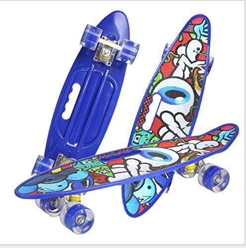Retro-Skateboard für Kinder, 24-Zoll-Komplettskateboard mit leuchtenden Rädern, geeignet für Kinder, Jungen und Mädchen, Anfängergeschenke 1