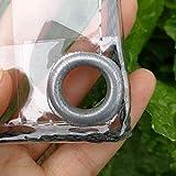 YKJL Tienda de campaña Transparente PVC toldo de Lona Impermeable Lona de plástico de PVC con Ojales Flor de Hoja de la Planta Nublado Lluvia de sellado-1M×0.9M