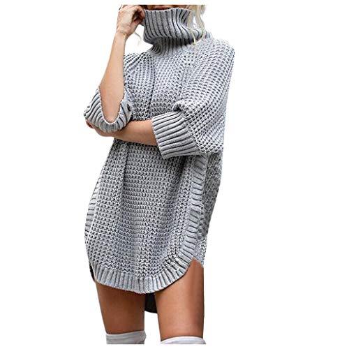 Vrouwen Casual Coltrui Jumper Dames Onregelmatige Winter Gebreide Sweater Lange Mouw Blouse Meisjes Hoge Hals Sweatshirt Warm Pullover Tops