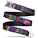Buckle Down Men's Seatbelt Belt Inside Out Kids, Bing Bong Poses/Candy Purples/Multi Color, 20-36 Inches