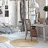 Luxor Living Teppich Mamda aus Jute, rund strapazierfähig, handgeflochten, Natur, Ø 80 cm