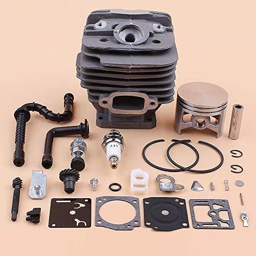 Kit de reparación de carburador tensor de cadena de manguera de aceite de combustible de pistón de cilindro de 48mm para piezas de reconstrucción de motosierra STIHL 036 MS360 MS 360 11250201206