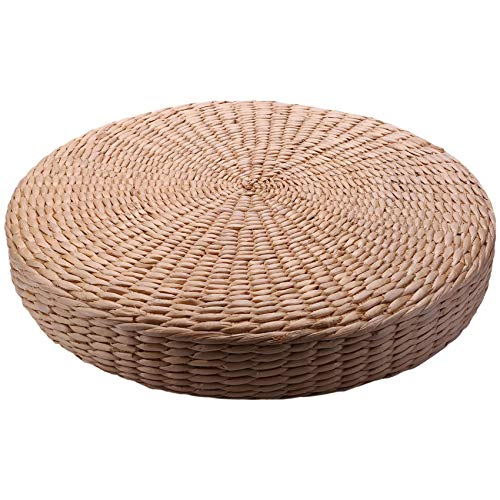 Fransande - Alfombra de asiento de silla de yoga a mano con cojín de tatami y cojín de tatami (40 cm)