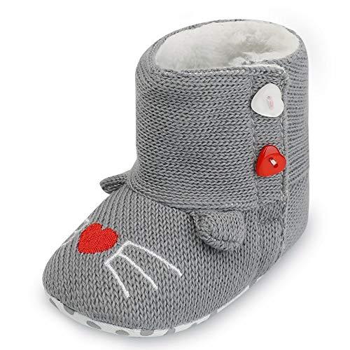 Jaysis Kleinkind Unisex Baby Jungen Kat Mädchen Panda Stiefel und Stiefeletten, Hausschuhe Schuhe...