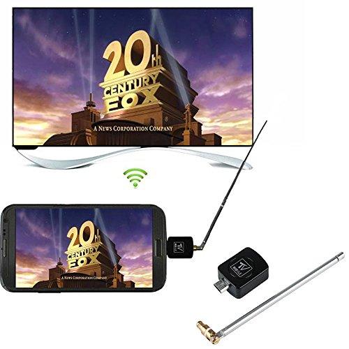 Cewaal Receptor de TV móvil Digital DVB-T, Receptor de sintonizador de TV Micro USB DVB-T para teléfono Inteligente Android Tablet PC HDTV