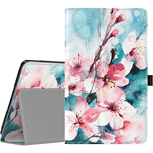 TiMOVO Case for Samsung Galaxy Tab A 8.0 2019 (T290/T295),Premium Slim Folding PU Leather Shell Stand Cover Case for Galaxy Tab A 8.0 2019 Tablet,Not Fit Galaxy Tab A 8.0 2017/2018 - Peach Blossom