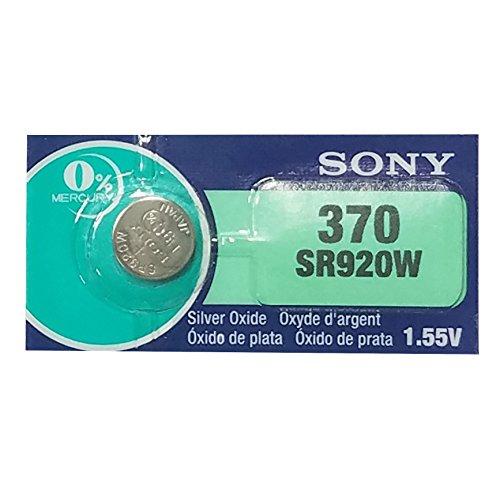 Sony 370 (SR920W) 1.55V Silver Oxide 0% Hg Mercury Free Watch Battery (5 Batteries)