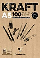 クレアフォンテーヌクラフト接着パッド、90 g、A5、100枚