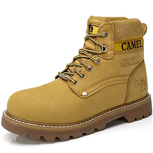 CAMEL CROWN Bota Mujer Piel Botas Waterproof Mujer Militares Work Boots for Women Outdoor Invierno