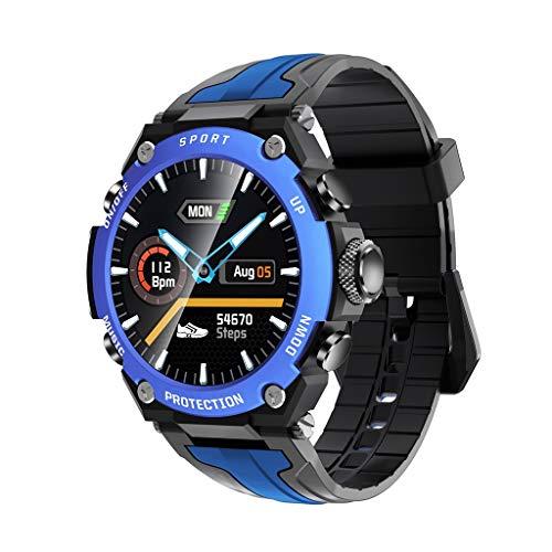 Relojes de pulsera Reloj Deportivo Musical, Música Independiente Selección de Dial Múltiple, 20 Días En Espera, con Clip de Carga, Seguimiento de Actividad Durante Todo El Día watches ( Color : Blue )