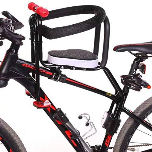 UIGJIOG Sillas De Bicicletas para Niños Bicicleta De Montaña/Vehículo Eléctrico Asiento De Seguridad Extraíble para Bebés con Delantera Reposabrazos Y Cojín Grueso para Niños 2 a 7 Años,Gris