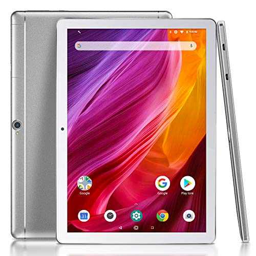 Dragon Touch K10 Tablet, 10 inch Android Tablet with 16 GB Quad Core Processor, 1280x800 IPS HD Display, Micro HDMI, GPS, FM, 5G WiFi (Silver)