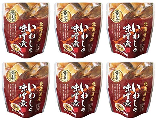 無添加 いわしの味噌煮 95g(固形量70g)×6個 ★ 宅配便 ★ 北海道産天然いわし使用・素材の風味を活かした味噌仕立て・食べやすいように骨まで柔らか