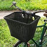 Primlisa Cesta de bicicleta impermeable para manillar delantero, cesta para bicicleta infantil, accesorio para bicicleta, cesta para equipaje, color negro