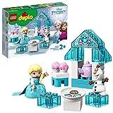 LEGO DUPLOPrincess IlTeaPartydiElsaeOlaf, Set da Costruzione con Mattoncini Grandi, Dolcetti e Teiera,per Bimbi di 2 Anni, 10920