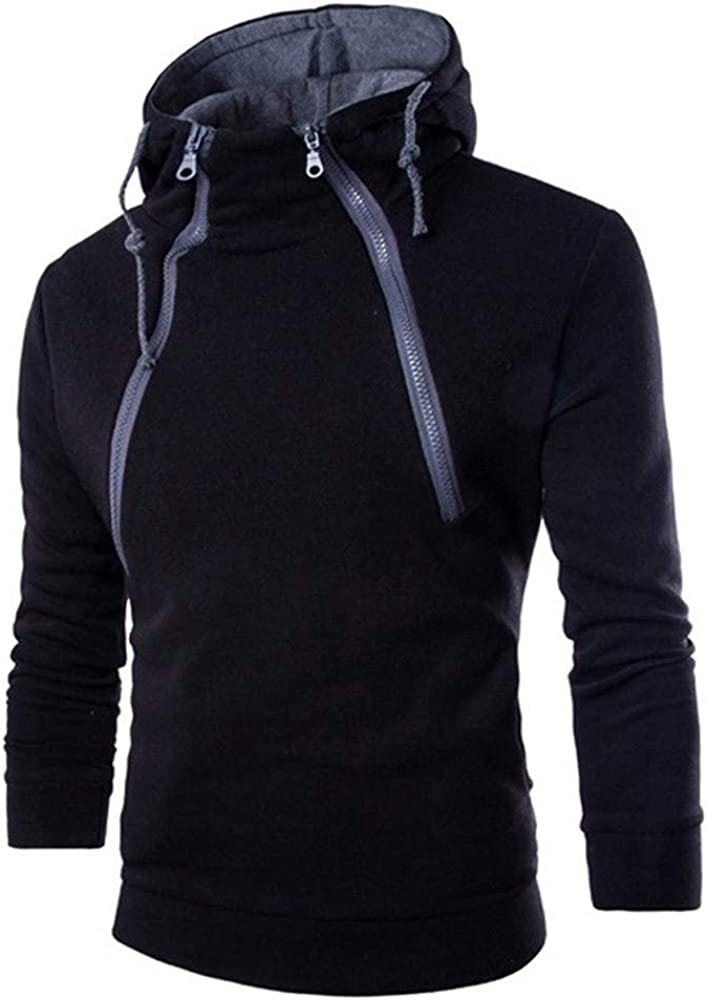 Mens Hoodies Casual Pullover Long Sleeve Pullover Drawstring Patchwork Athletic Sweatshirt Gym Hooded Tops