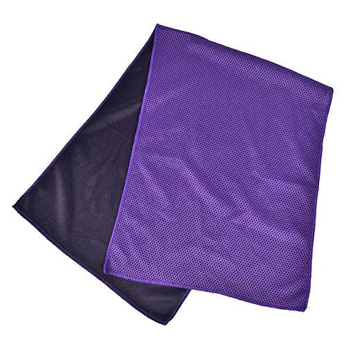 MAWA Toalla Deportiva portátil de Microfibra de Secado rápido, paño de Viaje, Toalla para Acampar, natación, Gimnasio - púrpura