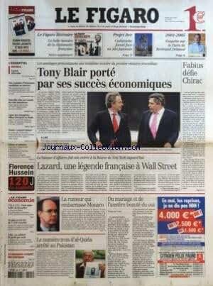 FIGARO (LE) [No 18895] du 05/05/2005 - LE FIGARO LITTERAIRE - LA BELLE HISTOIRE DE LA DIPLOMATIE FRANCAISE - PROJET ITER - CADARACHE FAVORI FACE AU SITE JAPONAIS - 2001-2005 - ENQUETE SUR LE PARIS DE BERTRAND DELANOE - LAZARD DELOCALISE PAR NICOLAS BARRE - DES CENTAINES D'IRANIENNES CANDIDATES AU MARTYRE - NOUVELLE CRISE AU CONSEIL DU CULTE MUSULMAN - LIGUE DES CHAMPIONS - MILAN-LIVERPOOL EN FINALE - TENNIS - GASQUET BALAYE - FLORENCE HUSSEIN 120J DE CAPTIVITE - TVA A 5,5% - PARIS SALUE L'OFFRE