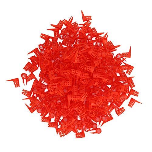 250PCS Öffnung Queen Bee Schutzkäfig, Red Plastic Bee Queens Schutzkäfig Zellabdeckung Imkerei-Werkzeug Zubehör