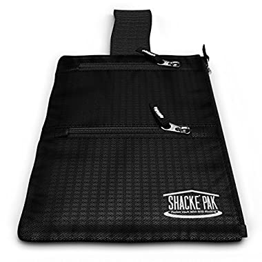 Shacke Hidden Travel Belt Wallet w/ RFID Blocker (Black with Black Strap)