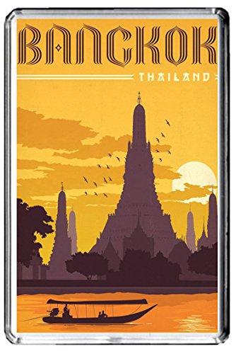 C076 BANGKOK FRIDGE MAGNET THAILAND VINTAGE TRAVEL PHOTO MAGNETICA CALAMITA FRIGO