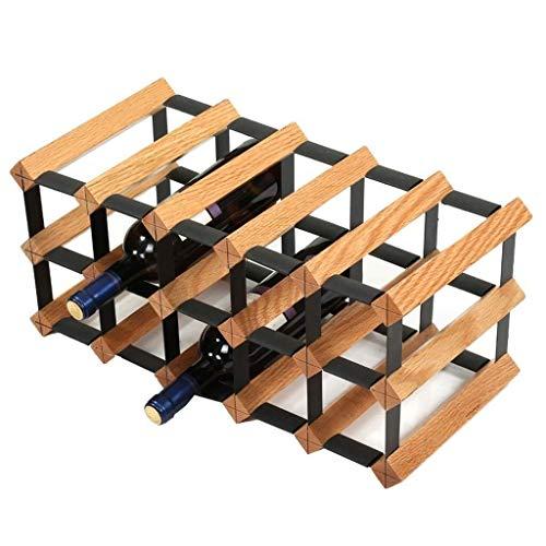 HJXSXHZ366 Estantería de Vino Estante de Vino del Roble Decoración del hogar Vino Estante de la Botella de Vino en Rack Rack de Vino Tinto Estante de Vino pequeño (Size : Large)