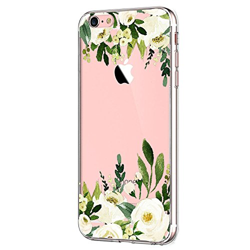 JEPER Kompatibel Hülle für iPhone 6 6S, Handyhülle für iPhone 6S Schutzhülle Case Silikon Crystal Clear Ultra Dünn TPU Handyhülle Backcover für iPhone 6 6S (Pattern 12)