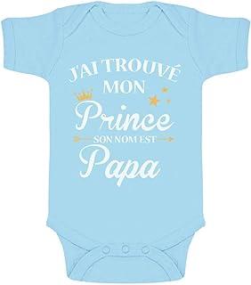 Green Turtle T-Shirts J'Ai trouvé Mon Prince C'est Papa! Cadeau Fête des pères Body Bébé Manche Courte