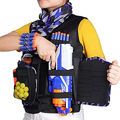 UWANTME Detachable Tactical Vest Kits Kids for Nerf Guns N-Strike Elite Series