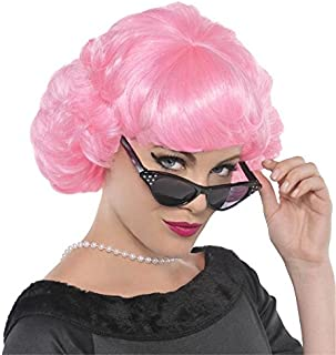 Amscan Pink Wig, Multi-Colour
