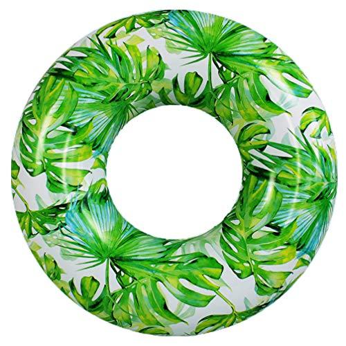 jojofuny Monstera Palmera Hojas Tubos de Piscina para Flotar Diversión Flotadores de Natación para Adultos Floaty de Piscina para Todas Las Edades Hawaiano Verano Luau Party Photo Props