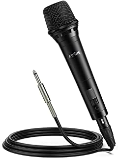 FIFINE Dynamic Vocal Microphone Cardioid Handheld Microphone with On/Off Switch for Karaoke, Live vocal, Speech etc. inclu...