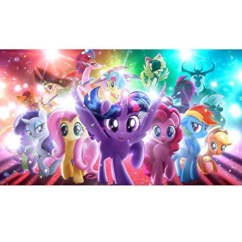 GJYAC Diamantmalerei 5d DIY Cartoon My Little Pony Einhorn Diamant Malerei Nettes kleines Pony Diamant Stickerei Kreuzstich Geschenk