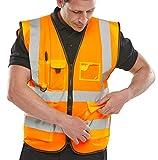 Beeswift Ejecutivo - Chaleco de alta visibilidad, naranja, XL, 1