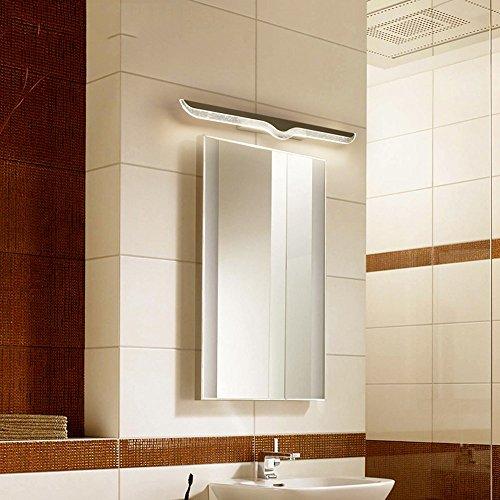 Gabinetto 5151BuyWorld hanglamp, 40 cm – 120 cm, spiegel met ledlicht voor badkamer, waterdicht, tegen mist, modern roestvrij staal, voor woon- en slaapkamer