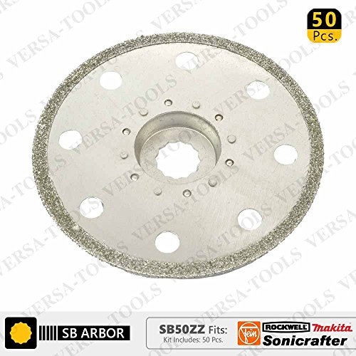 Cheap Versa Tool SB50ZZ 100mm Full Round Electroplated Diamond Grout Blade, 10mm Offset Mount Fits F...