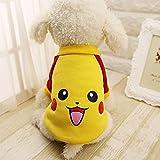 UTOPIAY Costume pour Chien, Pull pour Chien Pokemon Design, vêtements de Chat pour Petit Animal de Compagnie Moyen Mon Voisin...