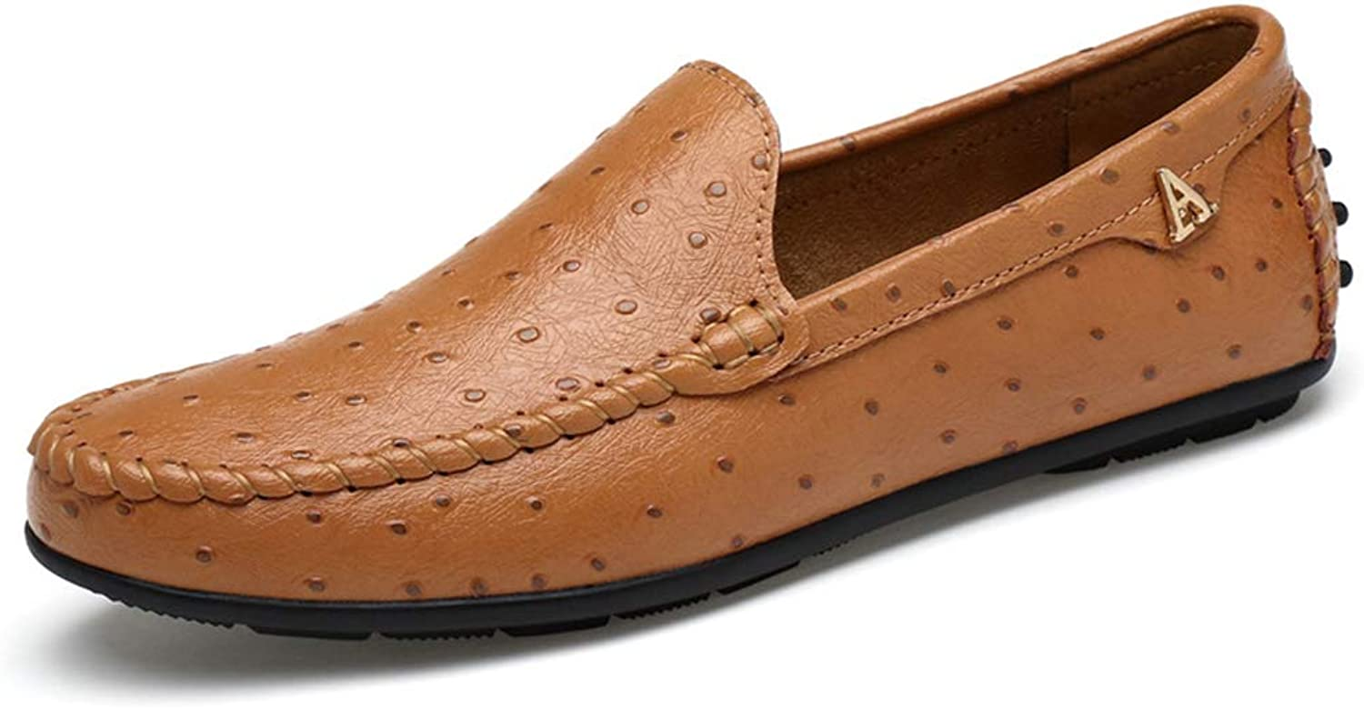 Men's Casual shoes,Light Soles Slip-Ons Driving shoes, Loafers & Slip-Ons Lazy shoes Walking Gym shoes,Yellow,44