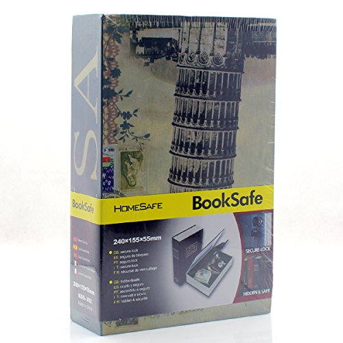 Riipoo(TM) Big Size Book Diversion Hidden Book Safe with Strong Metal Case Inside and Key Lock (Small Stamp Building,Size:24015555 mm)