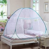 BATEER Pop-Up Mosquito Net Tent for Beds, Anti Mosquito Bites Design, Portable Folding Mosquito Net Tent with Bottom Single Doors Bed Tent for Baby Toddlers Adult
