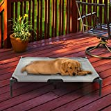 "Petmaker Elevated Pet Bed-Portable Raised Cot-Style Bed W/ Non-Slip Feet, 36""x 29.75""x 7"" for Dogs, Cats, and Small Pets-Indoor/Outdoor Use (Gray)"