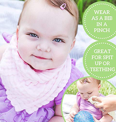 Muselinas Organicas para Bebe, Toallitas para bebé de muselina, Toalla Facial Infantil, Bebé Pañuelo Para Niños, 100% Algodón de Dibujos Muselinas de Algodón para Bebé, Bebé Pañuelo Para Niños