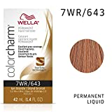 Wella Liquid Permanent Hair Color, 643/7wr Tan Blonde