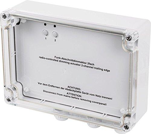 HomeMatic Funk-Dimmaktor 2-fach, Phasenabschnitt, Aufputzmontage
